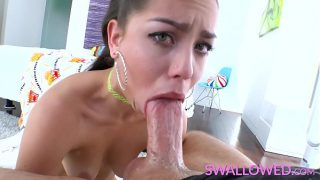 SWALLOWED Alina Lopez Hungry Mouth Devours a Huge Dick